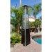 AZ Patio Heaters Commercial Glass Tube Propane Patio Heater