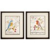 Propac Images Perched Note 2 Piece Framed Graphic Art Set