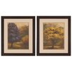 Propac Images Purple Gold 2 Piece Framed Painting Print Set