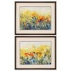 Propac Images Flowers Sway 2 Piece Framed Painting Print Set