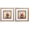 Propac Images Merry Cheer 2 Piece Framed Graphic Art Set