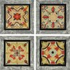 Paragon Bohemian Tiles Textured by Brissonnet 4 Piece Graphic Art Plaque Set (Set of 4)