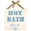 PTM Images Hot Bath Textual Art on Plaque