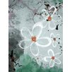 PTM Images Abstract Floral Watercolor Painting Print on Wrapped Canvas
