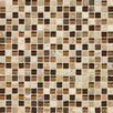"Daltile Stone Radiance 0.63"" x 0.63"" Slate Mosaic Tile in Caramel Travertine"