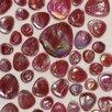 Daltile Random Sized Glass Pebble Tile in Scarlet Iridescent