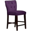 "Skyline Furniture Velvet Tufted Hourglass 26"" Bar Stool with Cushion"