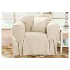 Sure-Fit Cotton Duck Club Chair Slipcover