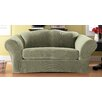 Sure-Fit Stretch Pique Separate Seat Loveseat Slipcover