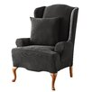 Sure-Fit Stretch Pique Wing Chair Slipcover