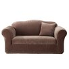 Sure-Fit Stretch Pinstripe Loveseat Slipcover