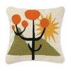 Trina Turk Calico Needlepoint Wool Throw Pillow