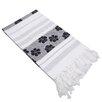Linum Home Textiles Flowers For All Jacquard Pestemal Beach Towel