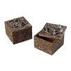 Sterling Industries Scroll Top Keep Sake Box (Set of 2)