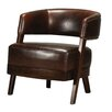 Sterling Industries Bethany Hill Leather Open Back Barrel Chair