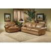 Omnia Furniture Houston Leather Living Room Set