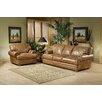 Omnia Furniture Houston Leather Living Room Set