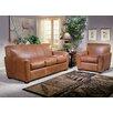 Omnia Furniture Jackson Leather Sofa Set