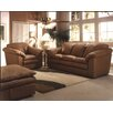 Omnia Furniture Oregon 3 Seat Leather Living Room Set