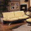 Omnia Furniture Princeton Leather Sofa