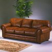 Omnia Furniture Winchester Marquee Leather Convertible Sofa