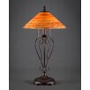 """Toltec Lighting Olde Iron 27"""" H Table Lamp with Cone Shade"""