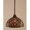 Toltec Lighting Stem 1 Light Mini Pendant
