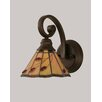 Toltec Lighting Curl 1 Light Wall Sconce