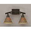 Toltec Lighting Bow 2 Light Bath Bar