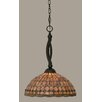 Toltec Lighting Bow 1 Light Mini Pendant
