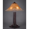 "Toltec Lighting Apollo 24.75"" H Table Lamp with Bell Shade"