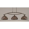 Toltec Lighting Bow 3 Light Kitchen Island Pendant