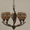 Toltec Lighting Bow 5 Light Chandelier
