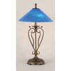 "Toltec Lighting Olde Iron 26.75"" H Table Lamps with Empire Shade"