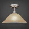 Toltec Lighting Vintage 1 Light Semi-Flush Mount