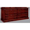 DMI Office Furniture Keswick 8-Drawer Lateral File Credenza Cabinet