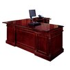 DMI Office Furniture Keswick L-Shape Executive Desk with Center Drawer