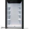 "DreamLine SlimLine 36"" by 36"" Single Threshold Shower Base and QWALL-3 Shower Backwall Kit"