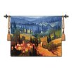 Fine Art Tapestries Classical Tuscan Valley View Small by Phillip Craig Tapestry