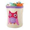 Whitmor, Inc Owl Round Toy Storage Bin
