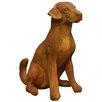 OrlandiStatuary Sitting Puppy Statue
