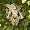 OrlandiStatuary Angel Gliding Looking Right Wall Decor