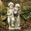 OrlandiStatuary Children Loving Twins Child Garden Statue