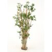 Distinctive Designs Waterlook® Faux Leafy Bamboo in Tall Glass Vase