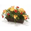 Distinctive Designs Silk Floral Mix Desk Top Plant in Planter