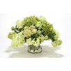 Distinctive Designs Mixed Hydrangeas and Snowballs in Glass Cylinder