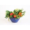 Distinctive Designs Vegetable Abundance in Oval Bowl