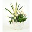 Distinctive Designs Floral Arrangement in White Grey Oval Bowl