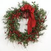 Distinctive Designs Down Home Holly Berry Wreath with Ornaments