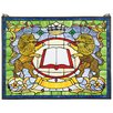Design Toscano Lion Coat of Arms Window
